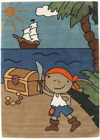 Pirate Handtufted 絨毯 170X240 モダン 薄茶色/青 (ウール, インド)