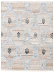 Cosmou - 薄い 青 絨毯 140X200 モダン 手織り 薄い灰色/ベージュ ( インド)