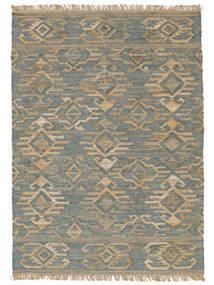 屋外カーペット Kalahari Jute 絨毯 200X300 モダン 手織り 薄い灰色/ターコイズブルー ( インド)