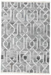 Trinny - ダーク グレー/グレー 絨毯 140X200 モダン 手織り 薄い灰色/ホワイト/クリーム色 ( インド)