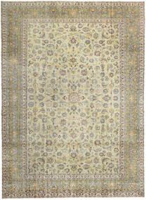 カシャン パティナ 絨毯 293X405 オリエンタル 手織り 薄い灰色/暗めのベージュ色の/オリーブ色 大きな (ウール, ペルシャ/イラン)