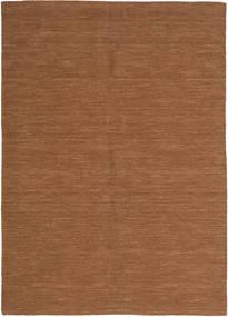 キリム ルーム - 茶 絨毯 160X230 モダン 手織り 茶 (ウール, インド)