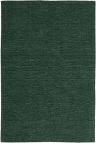 キリム ルーム - フォレストグリーン 絨毯 200X300 モダン 手織り 深緑色の (ウール, インド)