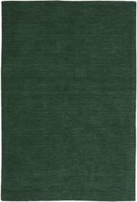 キリム ルーム - フォレストグリーン 絨毯 250X350 モダン 手織り 深緑色の 大きな (ウール, インド)