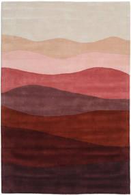 Feeling Handtufted - Wine 絨毯 200X300 モダン 深紅色の/薄い灰色 (ウール, インド)