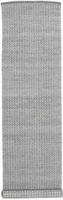 Alva - 濃いグレー/白 絨毯 80X350 モダン 手織り 廊下 カーペット 薄い灰色/濃いグレー (ウール, インド)