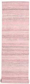 Alva - ピンク/白 絨毯 80X350 モダン 手織り 廊下 カーペット ライトピンク (ウール, インド)