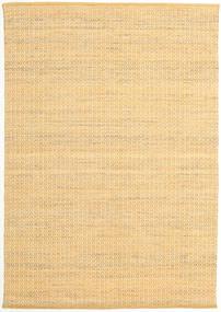 Alva - ダーク _Gold/白 絨毯 160X230 モダン 手織り 暗めのベージュ色の/薄茶色 (ウール, インド)