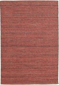 Alva - Dark_Rust/黒 絨毯 140X200 モダン 手織り 深紅色の/錆色 (ウール, インド)
