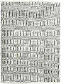 Alva - 白/黒 絨毯 140X200 モダン 手織り 濃いグレー/薄い灰色 (ウール, インド)