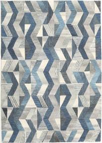 Ziggyn - グレー/青 絨毯 160X230 モダン 薄い灰色/暗めのベージュ色の (ウール, インド)