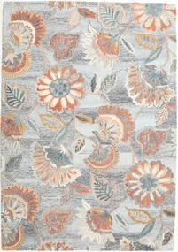Rusty Flowers - グレー/錆色 絨毯 160X230 モダン 薄い灰色/ベージュ (ウール, インド)