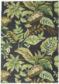 Jungel - グリーン/黒 絨毯 160X230 モダン 深緑色の/ライトグリーン/濃いグレー (ウール, インド)