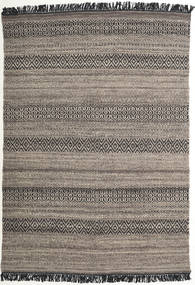Hedda - 茶 絨毯 140X200 モダン 手織り 薄い灰色/濃いグレー (ウール, インド)