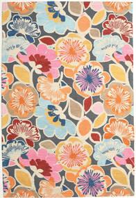 Flower Power - Multi 絨毯 200X300 モダン 濃いグレー/ベージュ (ウール, インド)