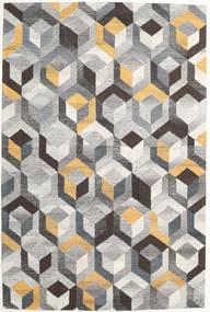 Cube - グレー/ゴールド 絨毯 200X300 モダン 薄い灰色/濃いグレー (ウール, インド)