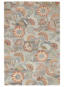 Rusty Flowers - グレー/錆色 絨毯 200X300 モダン 薄い灰色/暗めのベージュ色の (ウール, インド)