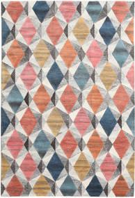 Prisma - Multi 絨毯 200X300 モダン 薄い灰色/深紅色の (ウール, インド)
