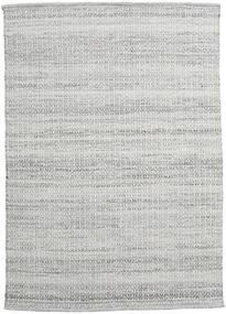 Alva - グレー/白 絨毯 140X200 モダン 手織り 薄い灰色 (ウール, インド)