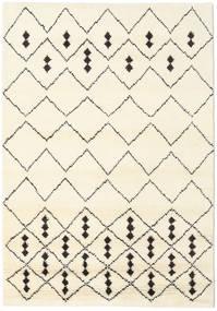 Berber Stick シャギー 絨毯 156X208 モダン 手織り ベージュ/ホワイト/クリーム色 (ウール, インド)