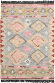 Tyra 絨毯 140X200 モダン 手織り 薄い灰色/ベージュ (ウール, インド)