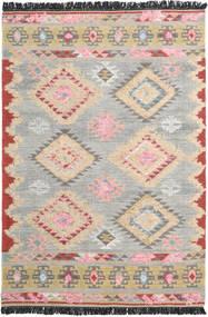 Tyra 絨毯 160X230 モダン 手織り 薄い灰色/ライトピンク (ウール, インド)
