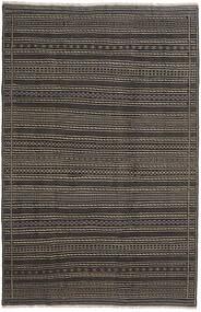 キリム ペルシャ 絨毯 200X300 オリエンタル 手織り 濃いグレー/黒 (ウール, ペルシャ/イラン)