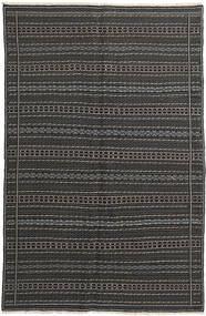 キリム 絨毯 152X235 オリエンタル 手織り 濃いグレー/黒 (ウール, ペルシャ/イラン)