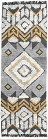 Deco 絨毯 80X250 モダン 手織り 廊下 カーペット 薄い灰色/濃いグレー (ウール, インド)