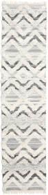 Lydia 絨毯 80X350 モダン 手織り 廊下 カーペット 暗めのベージュ色の/ベージュ/薄い灰色 (ウール, インド)