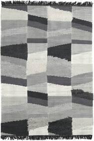 Viola - グレー/黒 絨毯 140X200 モダン 手織り 薄い灰色/ターコイズブルー (ウール, インド)