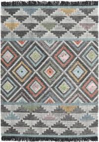 Iris 絨毯 140X200 モダン 手織り 濃いグレー/薄い灰色 (ウール, インド)