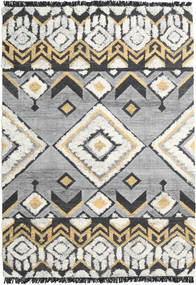 Deco 絨毯 200X300 モダン 手織り 薄い灰色/黒 (ウール, インド)