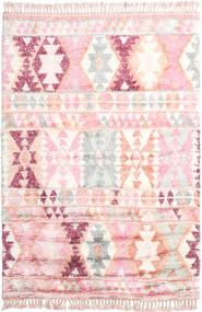 Märta - ピンク 絨毯 200X300 モダン 手織り ライトピンク/ベージュ (ウール, インド)