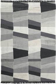 Viola - グレー/黒 絨毯 200X300 モダン 手織り 薄い灰色/黒 (ウール, インド)