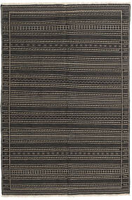 キリム ペルシャ 絨毯 160X230 オリエンタル 手織り 黒/濃いグレー (ウール, ペルシャ/イラン)
