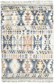 Märta - 青 絨毯 200X300 モダン 手織り 薄い灰色/ホワイト/クリーム色 (ウール, インド)