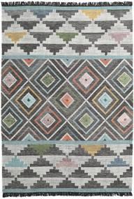 Iris 絨毯 250X350 モダン 手織り 濃いグレー/薄い灰色 大きな (ウール, インド)