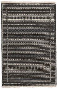 キリム 絨毯 80X123 オリエンタル 手織り 黒/濃いグレー/薄い灰色 (ウール, ペルシャ/イラン)