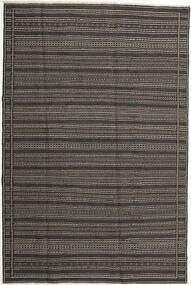 キリム 絨毯 197X298 オリエンタル 手織り 濃いグレー/薄い灰色 (ウール, ペルシャ/イラン)