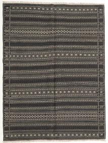 キリム 絨毯 155X210 オリエンタル 手織り 濃いグレー/黒 (ウール, ペルシャ/イラン)