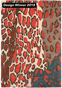 Tilda - 2018 絨毯 160X230 モダン 濃いグレー/赤 (ウール, インド)