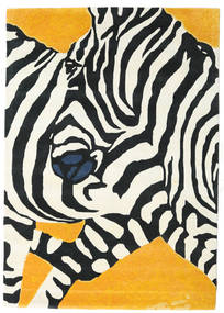 Zebra - 2018 絨毯 160X230 モダン ベージュ/黒 (ウール, インド)