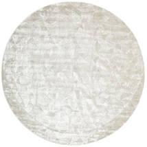 Crystal - 銀白 絨毯 Ø 250 モダン ラウンド 薄い灰色/暗めのベージュ色の/ベージュ 大きな ( インド)