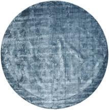 Crystal - Steel Blue 絨毯 Ø 250 モダン ラウンド 紺色の/水色/青 大きな ( インド)