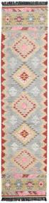 Tyra 絨毯 80X350 モダン 手織り 廊下 カーペット 薄い灰色/ベージュ (ウール, インド)