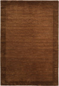 ハンドルーム Frame - 茶 絨毯 200X300 モダン 茶 (ウール, インド)