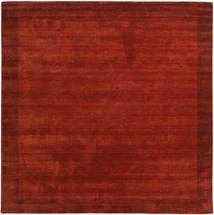 ハンドルーム Frame - 錆色 絨毯 300X300 モダン 正方形 錆色/赤 大きな (ウール, インド)