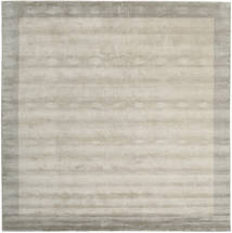 ハンドルーム Frame - Greige 絨毯 300X300 モダン 正方形 薄い灰色 大きな (ウール, インド)