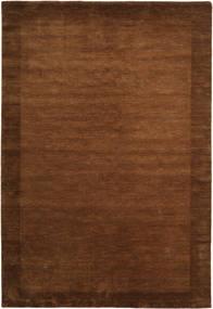 ハンドルーム Frame - 茶 絨毯 300X400 モダン 茶 大きな (ウール, インド)